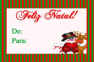 Natal - Kit Para Imprimir Grátis tag de natal