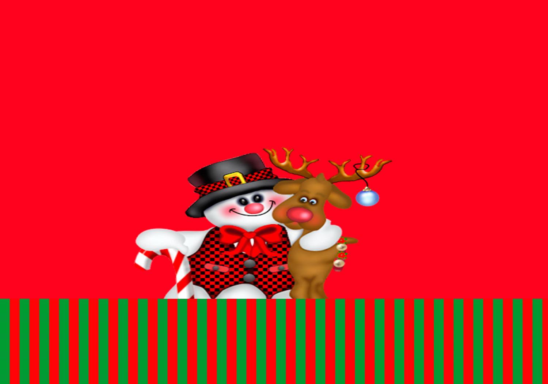 Natal - Kit Para Imprimir Grátis tag agradecimento