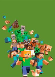 Minecraft  Kit Digital Grátis para Imprimir bisnaga