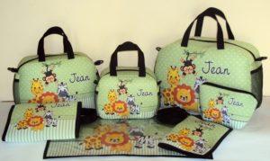 Kit Bolsa Maternidade Safari Personalizado