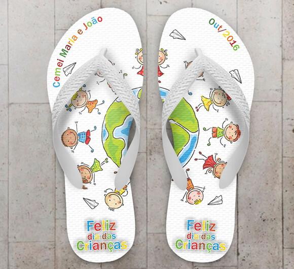 Chinelo Infantil Tema Dia das Crianças