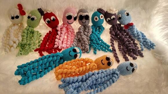 Polvo de Crochê para Prematuros (Crochê Amigurumi)