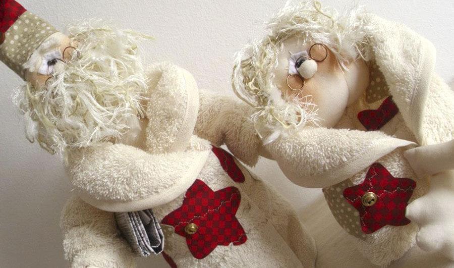 Boneco Papai Noel e Mamãe Noel