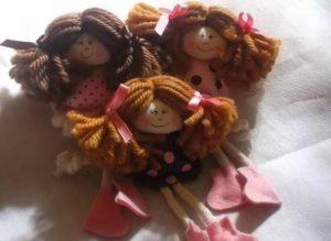 Como vender artesanato pela internet bonequinhas de pano rosa poá marrom