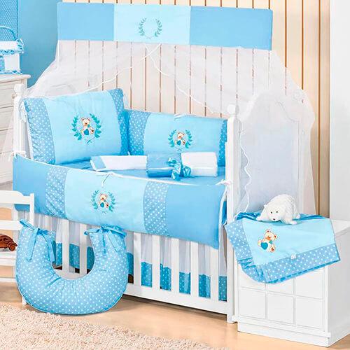 Kit de Berço Urso Baby 10 Peças
