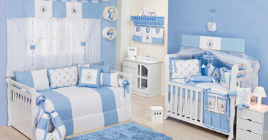 Kit berço azul bebê
