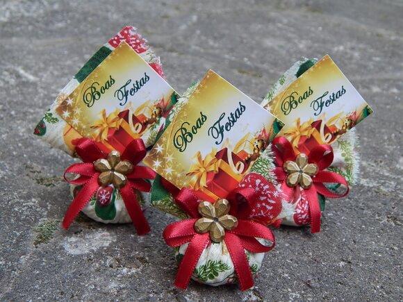 Lembrancinhas de Natal sache perfumado