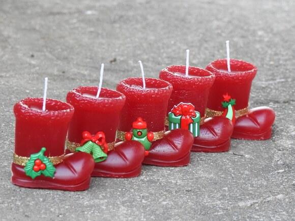 Lembrancinhas natal vela botinha vermelha