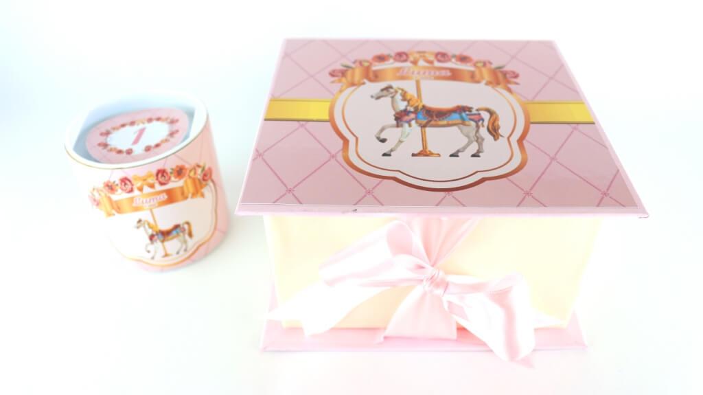 convite caixa gift carrossel