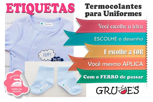 etiqueta para uniforme escolar etiquetas termocolantes para roupas