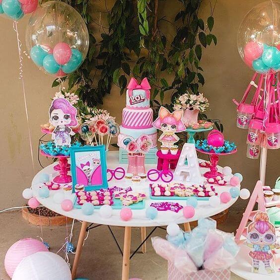 Decoraç u00e3o de Festa Infantil LOL Surprise Viver com Criatividade # Decoração De Festa Lol Simples