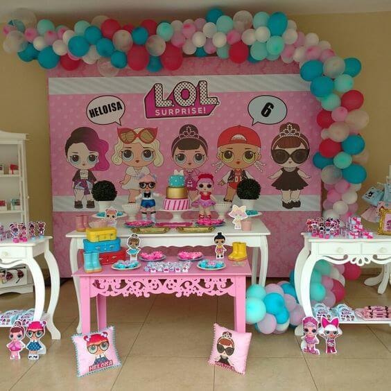 Decoraç u00e3o de Festa Infantil LOL Surprise Viver com Criatividade -> Decoração De Festa Lol Simples